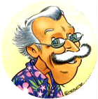 Pascal Mestelt's self-caricature!